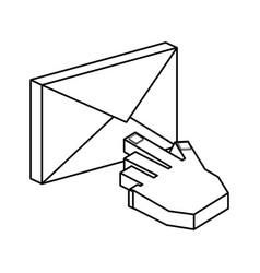 Email symbol 3d vector