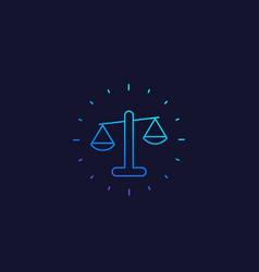 Ethics line icon vector