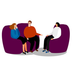 family psychologist and couple vector image