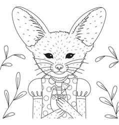 Fennec fox vector