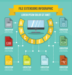 File extensions infographic concept flat style vector