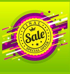 final sale poster banner special offer vector image