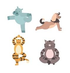 Fun Animals of Yoga Pose vector