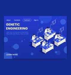genetic engineering page design vector image