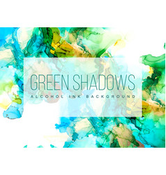 Green blue and gold shades ink background vector