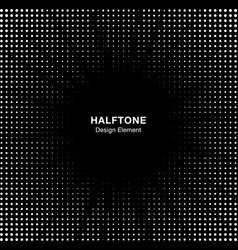 Halftone star circle frame background vector