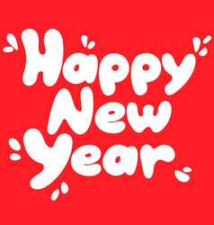 happy new year square card design element vector image