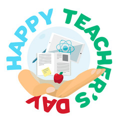 Happy teachers day celebration banner vector