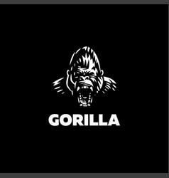 Head an angry gorilla vector