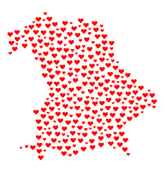 Heart collage map of germany vector
