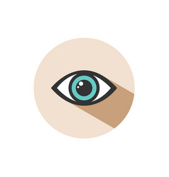 human eye icon with shade on a circle vector image