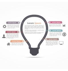 Infographics Template with Light Bulb vector