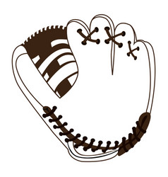 isolated baseball gloves vector image