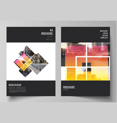 Layout a4 format modern cover vector
