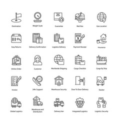 Leading-edge logistics delivery icons vector