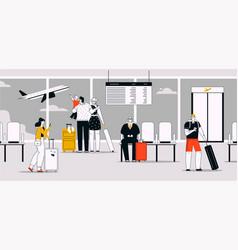 linear passengers vector image