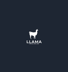 Llama logo design vector