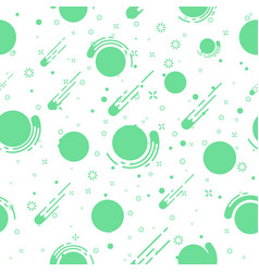 Lovely outer space planets vector