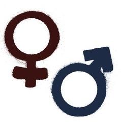 Male and female symbols vector