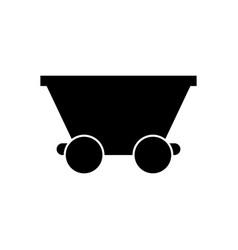 Mine trolley icon vector