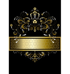 Original gold pattern for banner vector image