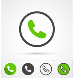 Phone in circle call icon vector