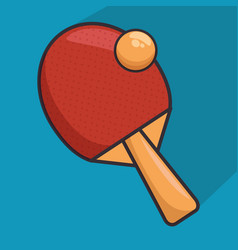 ping pong racket icon vector image