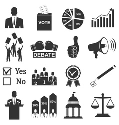 Politics Voting and elections icons vector image