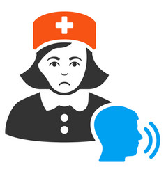 psychotherapist nurse talking icon vector image