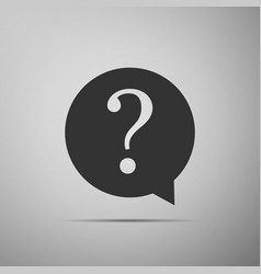 Question mark in circle hazard warning symbol vector