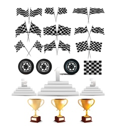 racing design elements vector image
