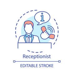 Receptionist concept icon secretary assistant vector