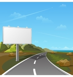 Road billboard with landscape background vector