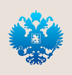 Russian coat of arms double-headed eagle emblem vector