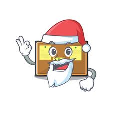 Santa toy bulletin board on cartoon vector
