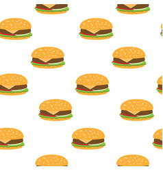 seamless pattern with burgers vector image