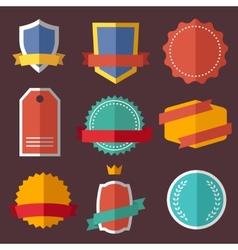 Set of retro vintage labels signs badges vector image vector image