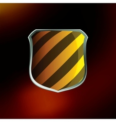 shields in hazard black and yellow stripes eps 8 vector image