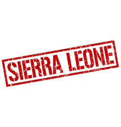 Sierra leone red square stamp vector