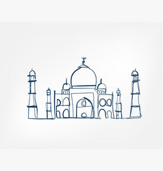 sight art line isolated doodle vector image