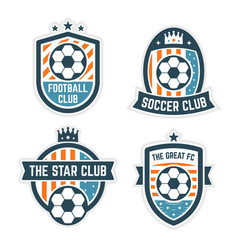 soccer or football club logo or badge set vector image