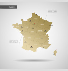 Stylized france map vector