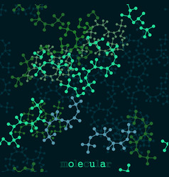 Stylized molecular structures vector