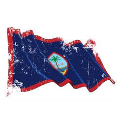 textured grunge waving flag guamxa vector image
