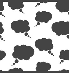 thought bubble seamless pattern background icon vector image