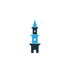 tower colorful icon symbol premium quality vector image