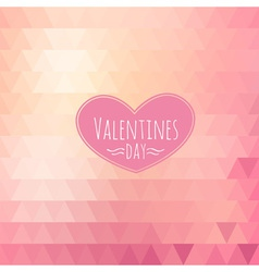 Valentine triangle background vector image