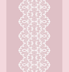 White lace ribbon vector
