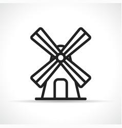 wind mill icon design vector image