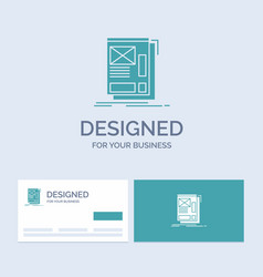 wire framing web layout development business logo vector image